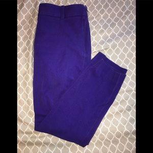 JCrew Stretch Minnie Purple Capri 2